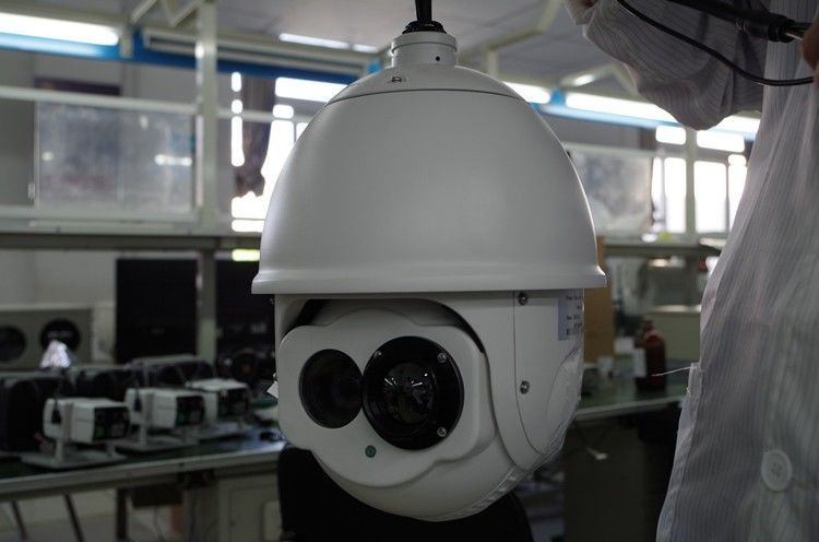 High Speed HD Dome IR IP PTZ Camera 600m 2.1 MP For Factory Surveillance