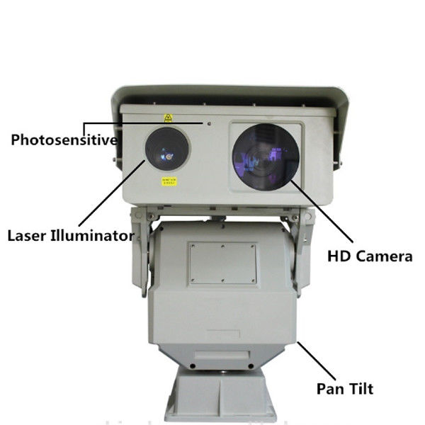 1KM Security Long Range PTZ Infrared Laser Camera With 808nm IR Illuminator